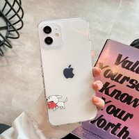 Protective Case Cute Cartoon Anti-Fall Full-Cover Cases for Iphone 7 8 Plus 11 12 13 Pro XR XS MAX Wholesale Water Resistant Dirt-resistant TPU Phone Cover
