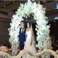 Decorative Flowers & Wreaths 100cm Artificial Plants Plastic Fake Silk Cherry Blossom Branches For Home Decoration 50pcs l