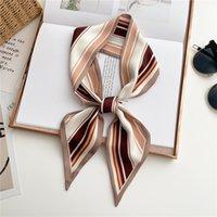 Scarves Design Long Scarf Hair Band Bag Women Girl Silk Print Ribbon Hand Towel Wirst Head Neckerchief Foulard 2021
