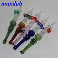 Smoking Mini Nectar Collector Kit 14mm Nector Collectors Dab Straw Oil Rigs Micro NC Set Glass Water Pipe quartz Tip