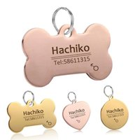 Dog Collars & Leashes YVYOO Pet Cat Collar Accessories Decoration Free Engraving Customized ID Tags Stainless Steel Tag BB