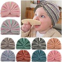 Caps & Hats Baby Hat Boy Knitted Beanie Kids Winter Infant Bonnet Turban Cap Headwear Born Accessories Girl