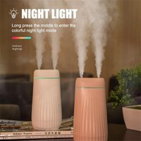 1000ML Double Nozzle Air Humidifier Aroma Diffuser Purifying With Colorful LED Light Household Bedroom Cool Mist Humidifiers