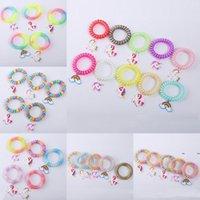 Nueva moda multicolora unicornio pulsera plástico PVC encanto pulsera casa fiesta joyería diferente estilos decoración FWB7767