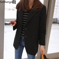 Women's Suits & Blazers Women Single Breasted Pocket Solid Simple All-match Slim Blazer Womens Elegant Korean Style Trendy Office Lady Daily