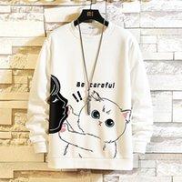 Men's Hoodies & Sweatshirts Plus Size 5XL 2021 Fashion Hip Hop Autumn Winter Fleece Male Hooded Funny Hipster Cat Print Tracksuit