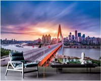 Wallpapers 3d Wallpaper Custom Mural Po High-rise City Bridge Building Background Wall Painting Murals For Walls 3 D