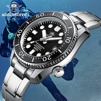 Saatı Addies Dalış Otomatik İzle NH35 Safir Kristal Paslanmaz Çelik Hepsi Bir Arada Bir Durumda Aydınlık 300m Erkekler Mekanik