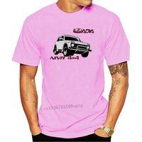 Męskie koszulki T-shirt Lada Niva 4x4 Off Radsische Car Auto Suv Vintage 2021 Krótki Rękaw Bawełniany Człowiek Odzież Topy Homme Basic T Shir