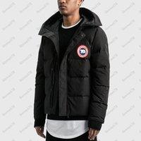 Invierno para hombre aislado nieve abajo chaquetas con capucha parka cubierta cubierta de alta calidad animal de alta calidad Douuune homme Outerwear ski coat USA Canadá estilo ropa