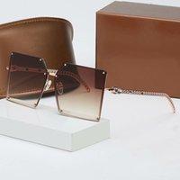 2021 new Luxur Top Quality Classic Square Sunglasses Designer Brand fashion Womens Sun Glasses Eyewear Metal Glass Lenses with box 2069