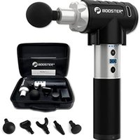 Booster Pro 2 Percussion تدليك بندقية العلاج: هادئ + قوي. تهتز جهاز رأس الكرة الأنسجة العميقة للرياضيين تخفيف آلام العضلات