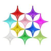 10-дюймовый четырехконечная звезда алюминиевый фольгой шар украшения свадьба день рождения вечеринка детей поставляет воздушные шары детские душ GWE5540