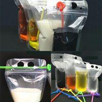 250ml, 750ml, 1000ml Plastikowe Frosted Clear Drink Packaging Torba do pakowania do napojów Juice Mleko Kawa OK YAS 239 V2