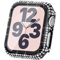 Custodia protettiva per custodia per orologi Apple 6 5 4 40mm 44mm Caso di paraurti per serie IWatch SE 3 38mm 42mm Copertine di pellicola in vetro temperato