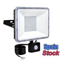 Capteur de mouvement 100W LED Lumières d'inondation 50W Sécurité extérieure Projections de sécurité IP66 Étanche Auto On / Off Lampe pour garage Billeboard Entrepôt Escaliers 6500K AC86-265V