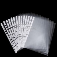 Business Card Files 50 Sheets 8.5x11   A4 Strong Transparent Poly- Punched Pockets X Sleeves, 11 Holes, PP Bag For Ring Binder folders