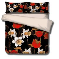 Set di biancheria da letto Stampa 3D Set Flower Piumino Cover Pastoral Style Pink Bed Lines Daisy Home Four Season
