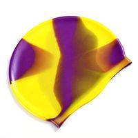 دائرة نصف قطرها 19-22.5 سنتيمتر سيليكون قبعة السباحة الكبار الرجال النساء المطاط الأطفال للماء السباحة قبعات قبعة الملحقات