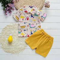 Clothing Sets BibiCola Baby Boys Outfits Summer Lapel Shirt Short Sleeves+shorts 2pcs Children Gentleman For Tracksuit
