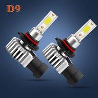 Car Headlights Eliteson 2PCS D9 LED Fog Lamps 12V 24V H1 H4 H7 H8 9005 9006 60W Truck Lights 6000K Combo High Low Beam Bulbs
