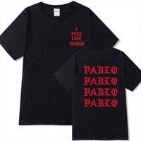 Kanye West Я чувствую себя как мужская футболка Pablo Streetwears социальный клуб рэппер Polera 100% хлопок Homme