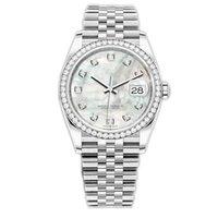 WATCHBR-U1 41mm 36mm Menor automático para hombre Reloj para mujer Bezel Acero inoxidable Mujer Diamante Lady Impermeable Luminoso Relojes de pulsera