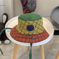 Женщины дизайнерские ведро шляпа мода многоцветный полная буква бейсболка casquette капота beanie luxurys fedora установленные крышки солнца 2021