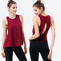 21ss الأزياء اليوغا تتسابق النساء الأعلى الرياضة اللياقة البدنية سترة بلا أكمام قميص فضفاض