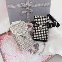 Bag Summer bright diamond mobile phone Mini Fashion versatile net red chain One Shoulder Messenger female