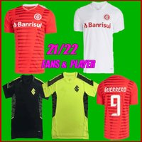 Fãs + Jogador 2021 S.C. Internacional Taison Soccer Jerseys 21 22 Lay Yuri Alberto Guerrerd Patrick Peglow Goleiro Treinando Camisas de futebol
