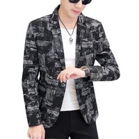 Slim Fit Creative Art Men Blazers Moda Osobowość Koreański Styl Najnowszy Płaszcz Design Chamarras Para Hombre Mens Odzież EC50X