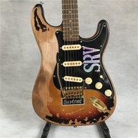 Personalizzato Shop Masterbuilt Edizione limitata St Electric Guitar Stevie Ray Vaughan Tribute SRV Numero One Vintage Brown finito