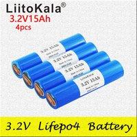 4PCS LIITOKALA 33140 3.2V 15AH LIFEPO4 Baterías de litio Células para DIY 12V 24V E BIKE E-SCOOTER POWER HOUSTERY BATERY PAC