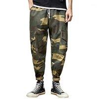 jeans de verão feitong homens novos estilo lazer camuflagem macacão moda multi-bolso clássico masculino denim jeans calças # g251