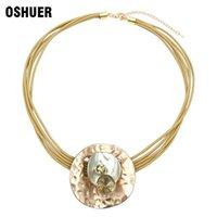 Collar de cuellos aleación gótica de zinc con cristal, colgante redondo, accesorios de disfraces para mujer, chokers de joyería.