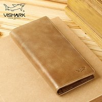 Wallets VISHARK Man Cow Leather Fashion & Causal Clutch Bag Large Capacity Cards IDs Holders For Male Versatile In Business 2021