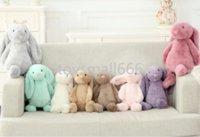 Enfants Longue oreille lapin lapin Dormant mignon dessin animé peluche jouet kawaii poupée animal poupée cadeau de Pâques A5875s