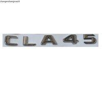 New Chrome ABS Rear Trunk Letters Badge Badges Emblem Emblems Sticker for Mercedes Benz CLA Class CLA45 AMG 2017+