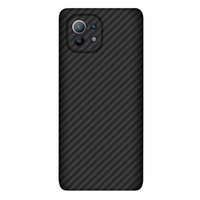 Funda telefónica de fibra de carbono ultrafina ultra delgada de lujo de la fibra de carbono para Xiaomi 11 MI 11 toque suave robusto robusto cubierta duradera