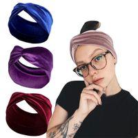 Düğüm Çapraz Kravat Bantlar Katı Renk Makyaj Yumuşak Ilmek Spor Yoga Streç Wrap Hairband Çemberler Kadınlar için Moda Will ve Sandy