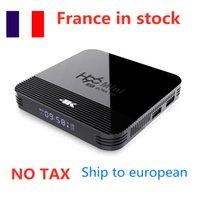 سفينة من فرنسا H96 Mini H8 Android 9.0 مربع التلفزيون الذكي 1GB 8GB 2.4G 5G Wifi 4K Media Player BT4.0