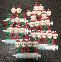 DHL 2021 عيد الميلاد الديكور الحجرية الحلي الأسرة من 1-9 رؤساء diy شجرة قلادة اكسسوارات مع حبل