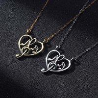 Collane pendenti Infinity Love Love Heart Collana di musica per le donne Ragazze Laurea Geami regalo di Treble and Bass Clef Jewelry