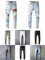 2021 Pop Distressed Designer Mens True Jeans Ripped Fashion Style Luxury Denim Pants Casual High quality Motorcycle jean