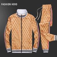 2020 İlkbahar ve Sonbahar Yeni erkek Boş Zaman Aynı Moda ve Yakışıklı Eşleştirme Spor Fermuar Takım Elbise