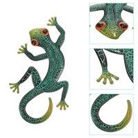 Garden Decorations Iron Lizard Wall Art Decoration Animal Statues Sculptures Home