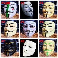Halloween Props HHA735 Mask Vendetta Full Masquerade V Decoration Masks Party Female Male Kids Face Movie Hcabn