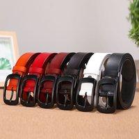 2021 Classic high quality 6 colors designers women belts luxury letter big Buckle belt width 2.8cm