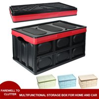 Car Organizer Trunk Storage Box Foldable Plastic Large Portable Bag Organize